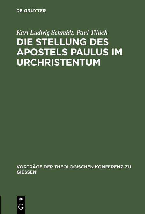 Die Stellung des Apostels Paulus im Urchristentum cover