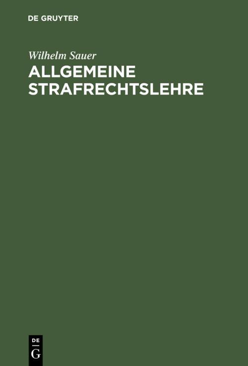 Allgemeine Strafrechtslehre cover