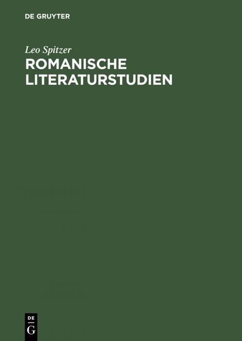 Romanische Literaturstudien cover