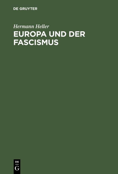 Europa und der Fascismus cover