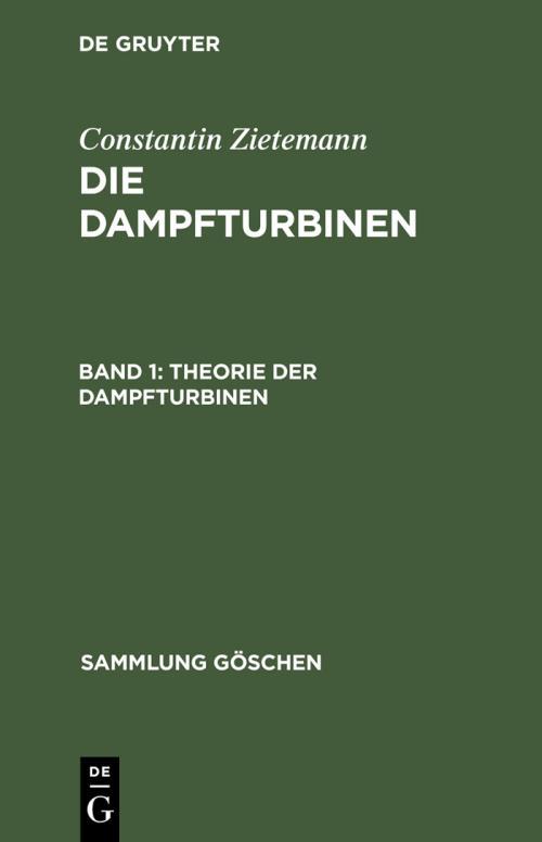 Theorie der Dampfturbinen cover