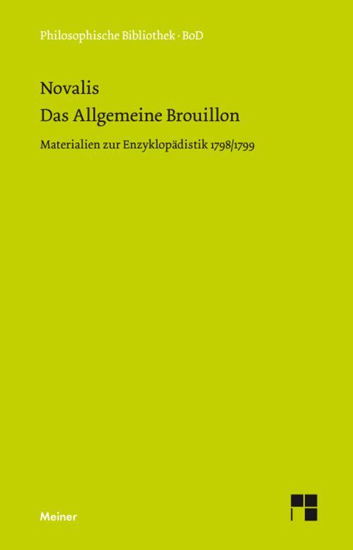 Das allgemeine Brouillon cover