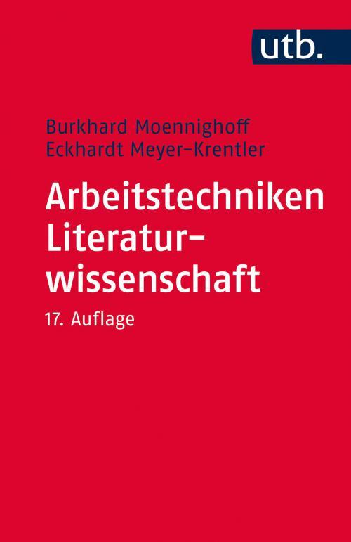 Arbeitstechniken Literaturwissenschaft cover