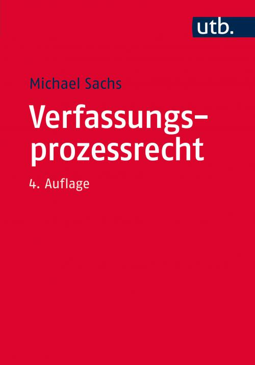 Verfassungsprozessrecht cover