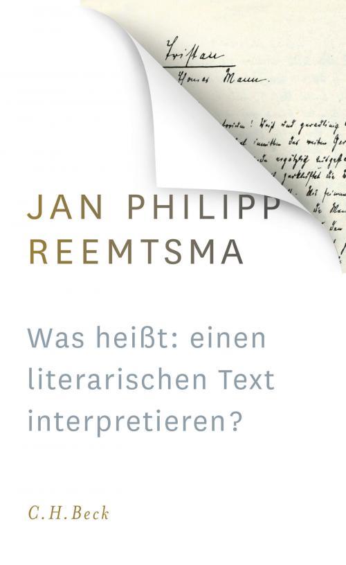 Was heißt: einen literarischen Text interpretieren? cover