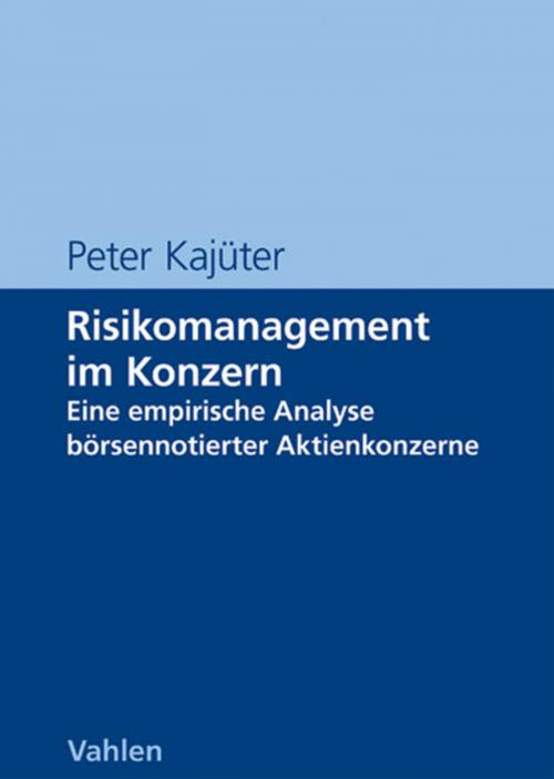 Risikomanagement im Konzern cover