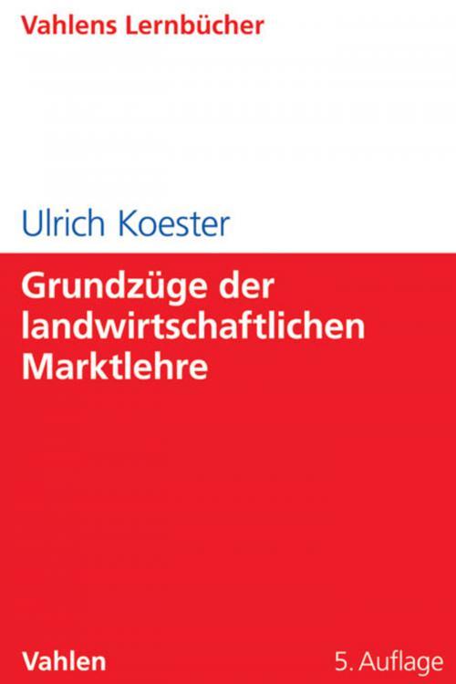 Grundzüge der landwirtschaftlichen Marktlehre cover
