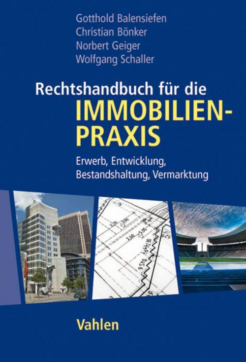 Rechtshandbuch für die Immobilienpraxis cover