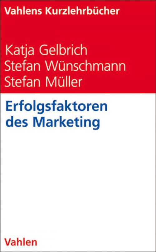 Erfolgsfaktoren des Marketing cover