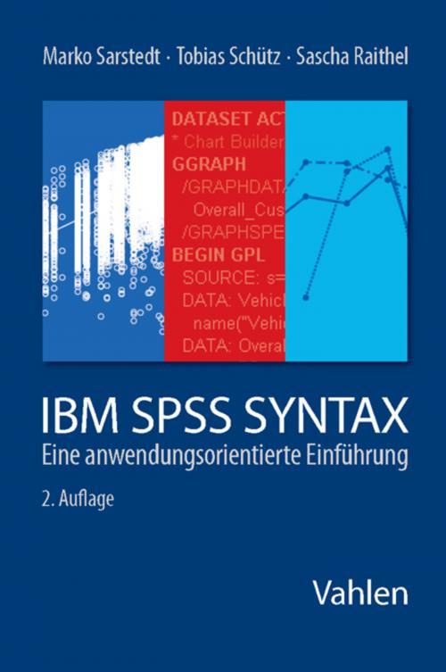 Sarstedt/Schütz, IBM SPSS Syntax cover