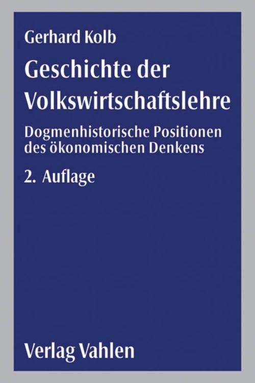 Geschichte der Volkswirtschaftslehre cover
