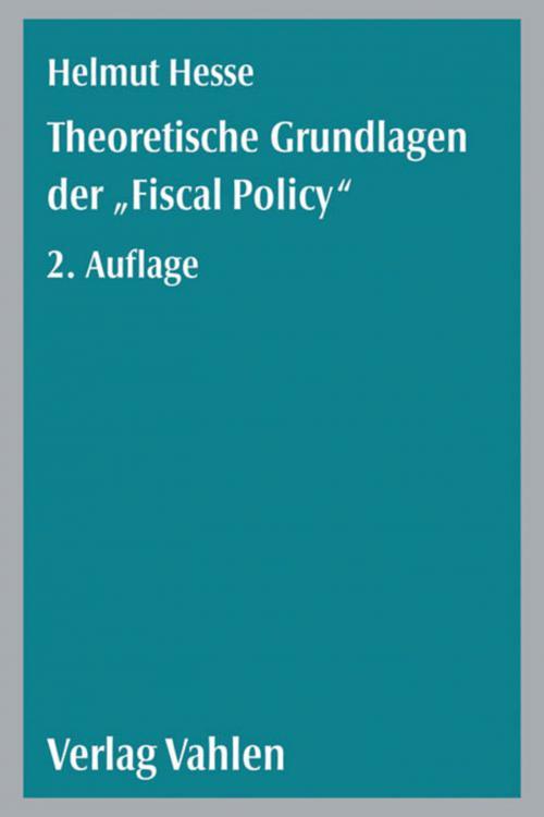 Theoretische Grundlagen der 'Fiscal Policy' cover