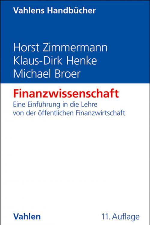 Finanzwissenschaft cover
