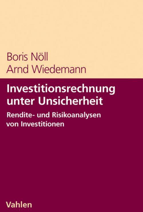 Investitionsrechnung unter Unsicherheit cover