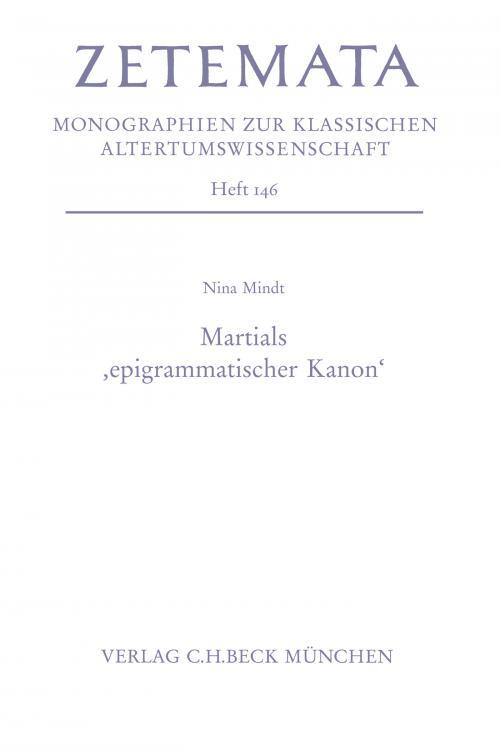 Martials 'epigrammatischer Kanon' cover