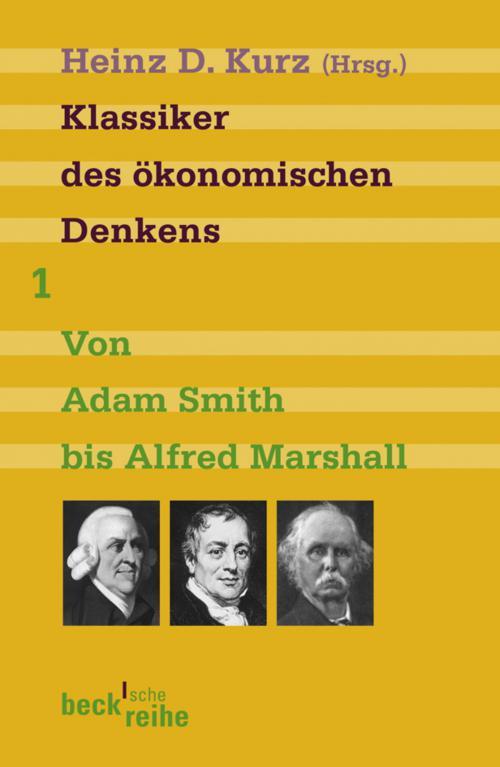 Klassiker des ökonomischen Denkens Band 1 cover