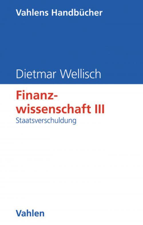 Finanzwissenschaft III: Staatsverschuldung cover
