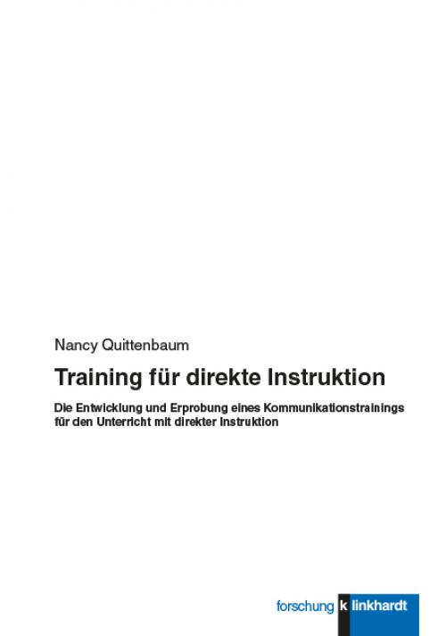 Training für direkte Instruktion cover