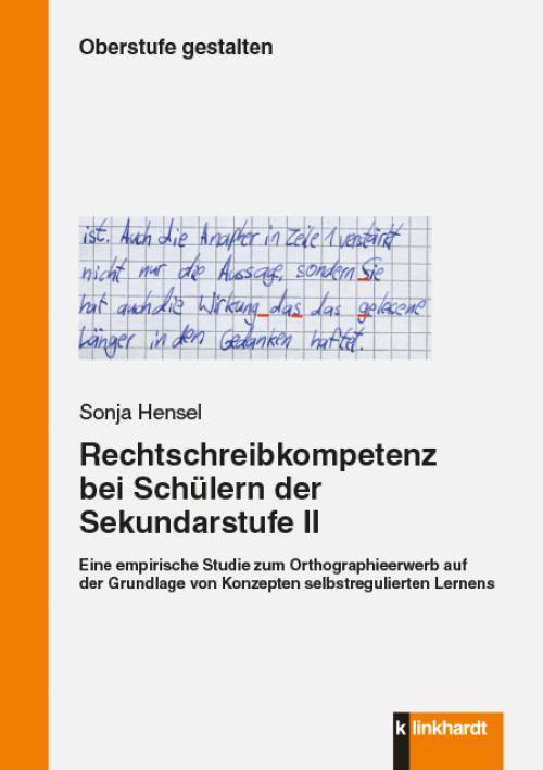 Rechtschreibkompetenz bei Schülern der Sekundarstufe II cover