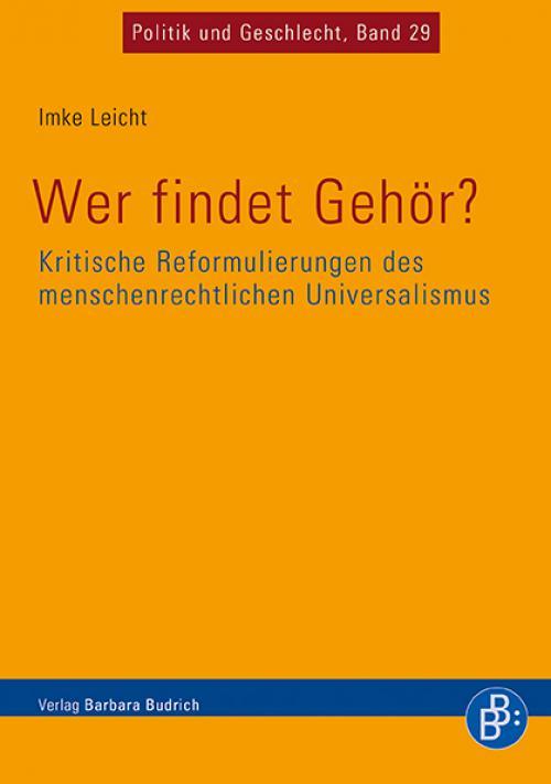Wer findet Gehör? Kritische Reformulierungen des menschenrechtlichen Universalismus cover