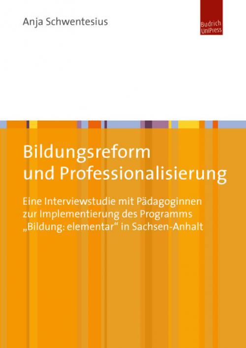 Bildungsreform und Professionalisierung cover