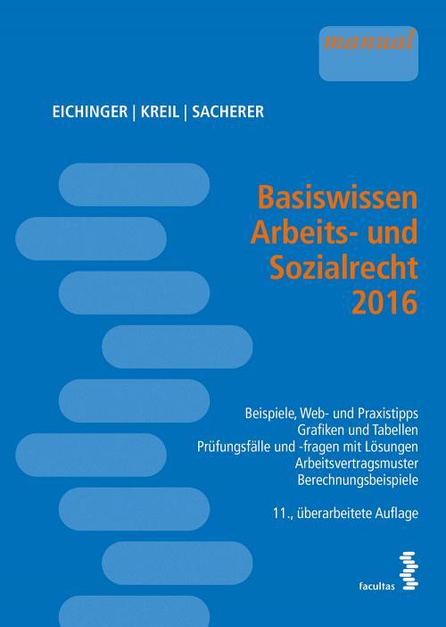 Basiswissen Arbeits- und Sozialrecht 2016 cover