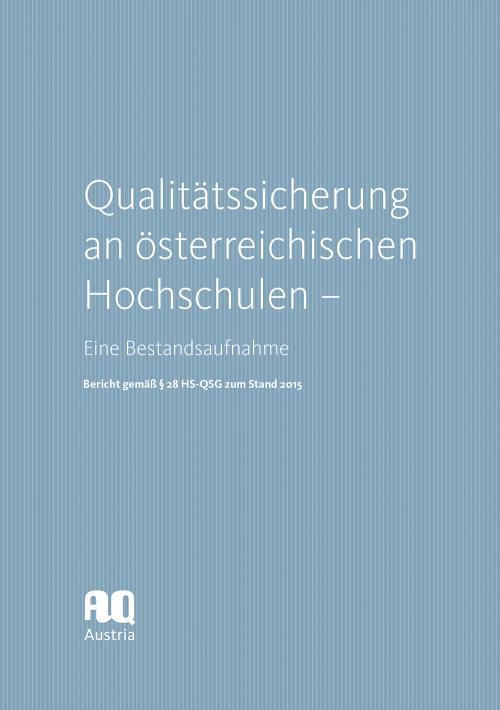 Qualitätssicherung an österreichischen Hochschulen cover