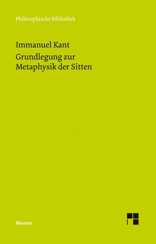 Grundlegung zur Metaphysik der Sitten cover