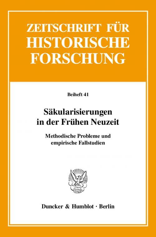 Säkularisierungen in der Frühen Neuzeit. cover
