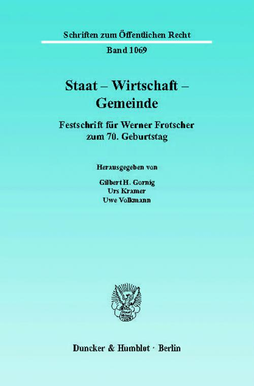 Staat - Wirtschaft - Gemeinde. cover