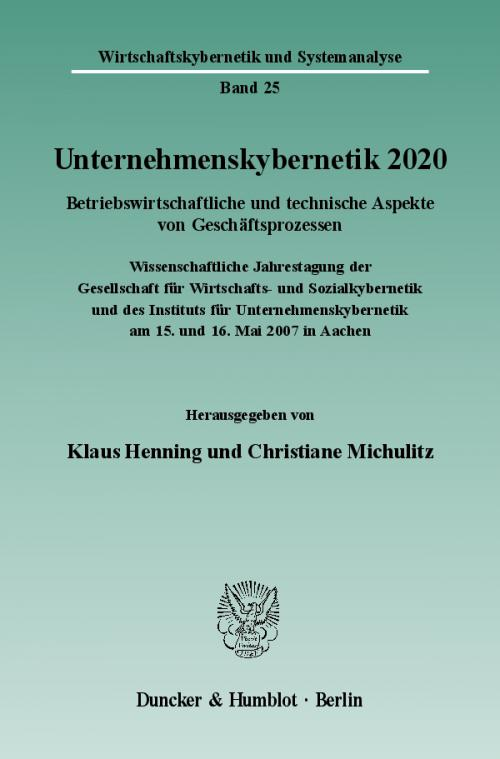 Unternehmenskybernetik 2020. cover