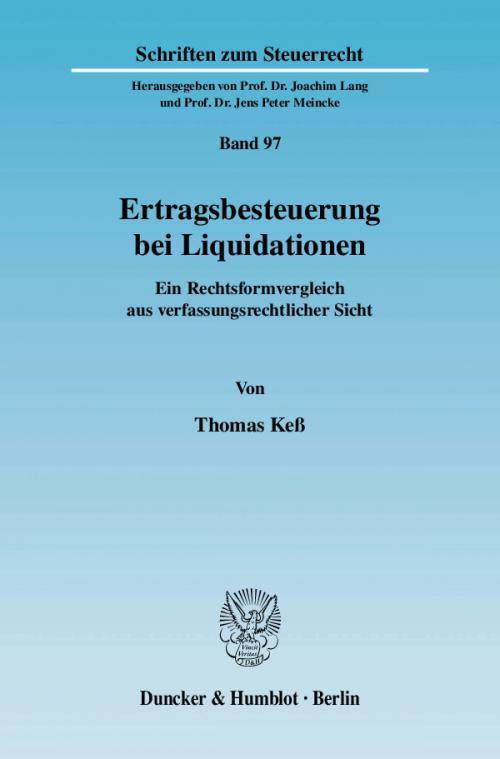 Ertragsbesteuerung bei Liquidationen. cover