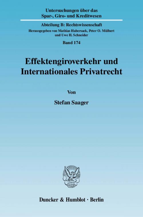 Effektengiroverkehr und Internationales Privatrecht. cover