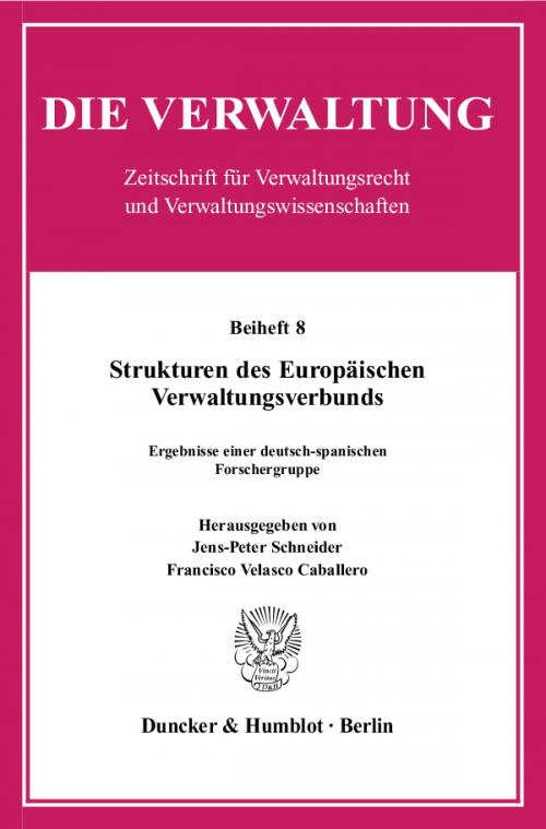 Strukturen des Europäischen Verwaltungsverbunds. cover