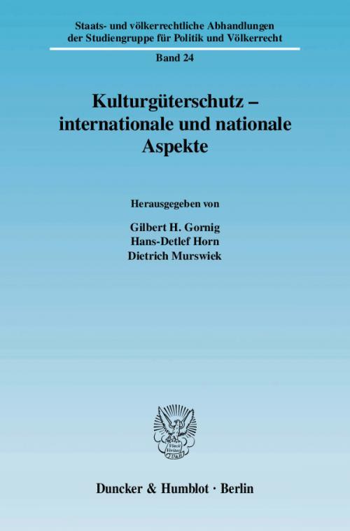 Kulturgüterschutz - internationale und nationale Aspekte. cover