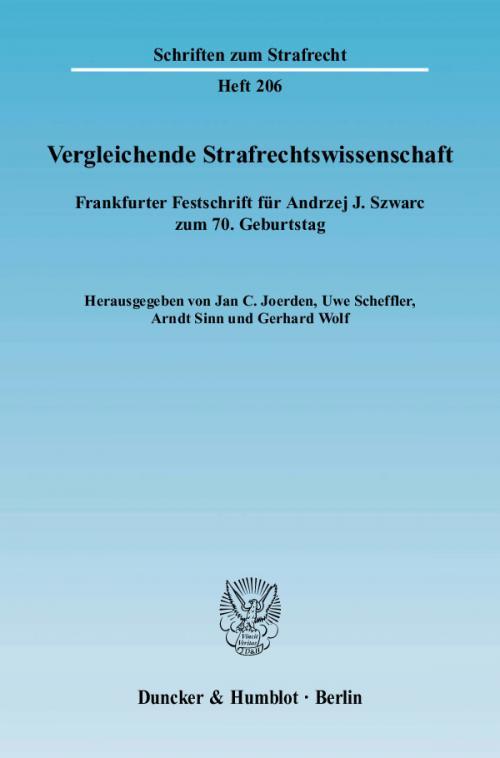 Vergleichende Strafrechtswissenschaft. cover