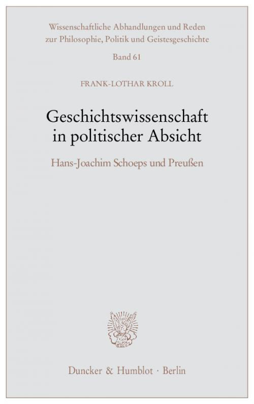 Geschichtswissenschaft in politischer Absicht. cover