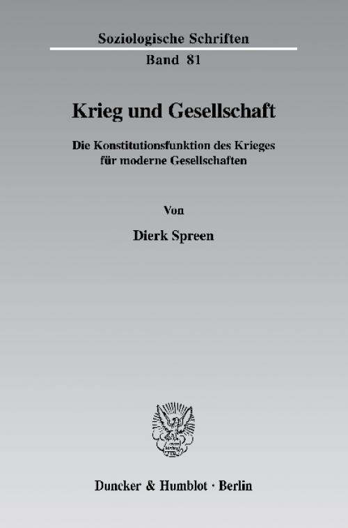 Krieg und Gesellschaft. cover