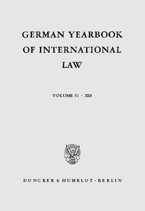 German Yearbook of International Law / Jahrbuch für Internationales Recht. cover