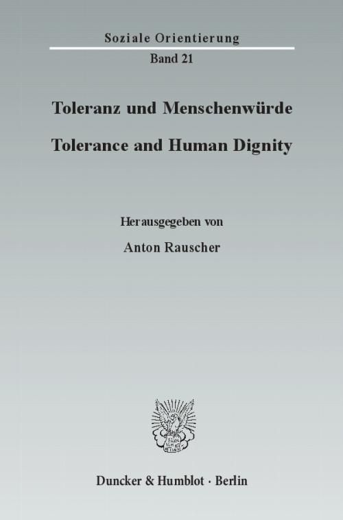 Toleranz und Menschenwürde / Tolerance and Human Dignity. cover