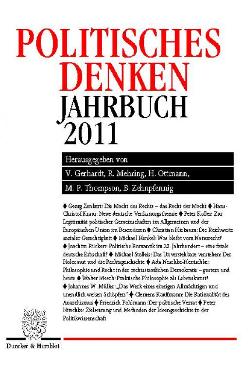 Politisches Denken. Jahrbuch 2011. cover