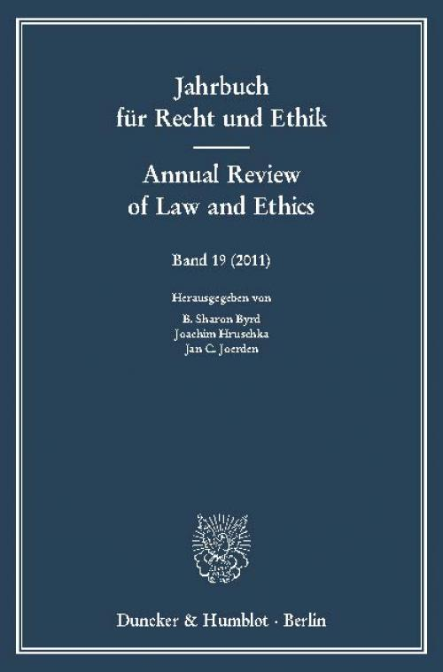 Jahrbuch für Recht und Ethik / Annual Review of Law and Ethics. cover