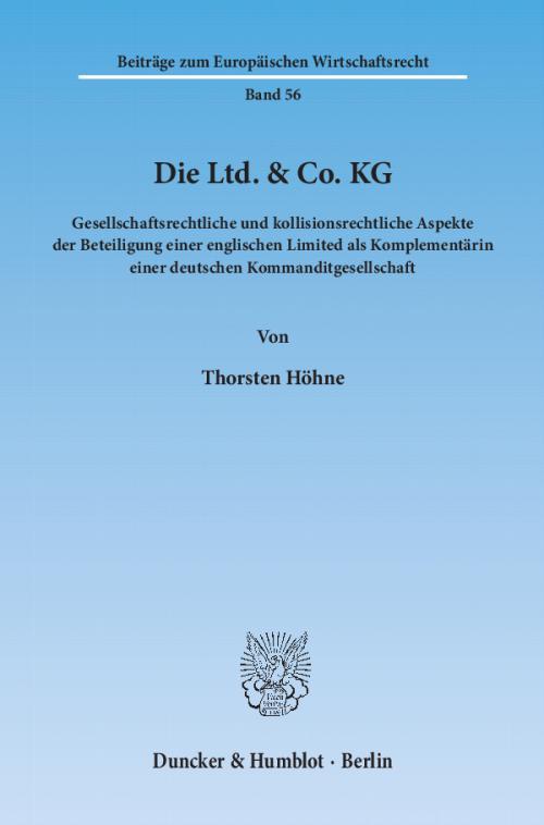 Die Ltd. & Co. KG. cover