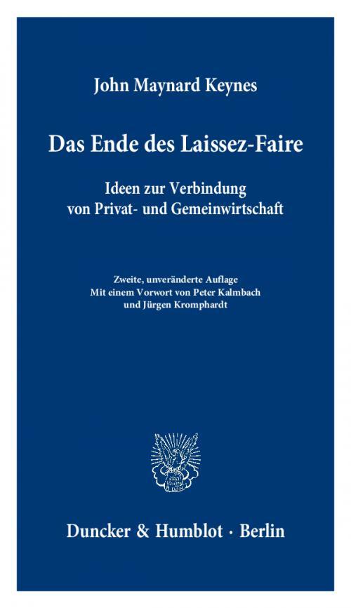 Das Ende des Laissez-Faire. cover