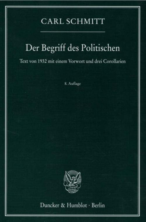 Der Begriff des Politischen. cover