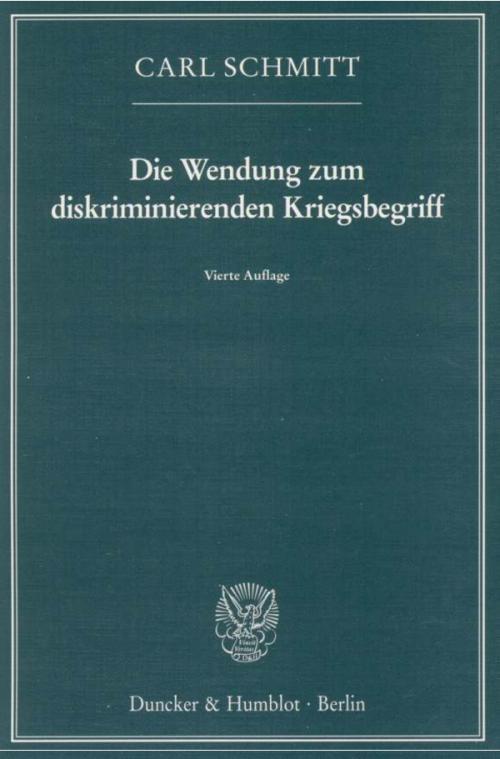 Die Wendung zum diskriminierenden Kriegsbegriff. cover