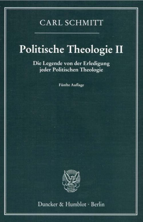 Politische Theologie II. cover