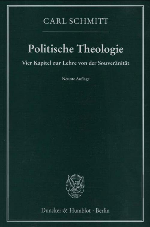 Politische Theologie. cover