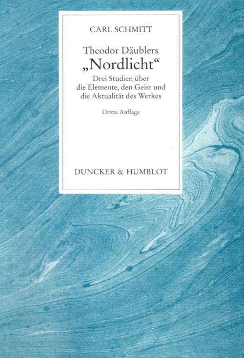 Theodor Däublers »Nordlicht«. cover