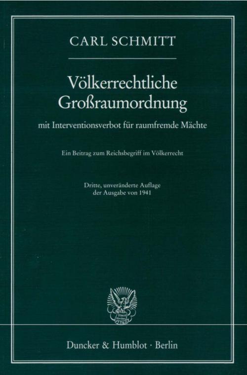 Völkerrechtliche Großraumordnung cover